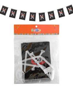 Guirnalda de pirata con 8 banderas