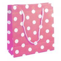 Bolsas Rosadas con puntos blancos