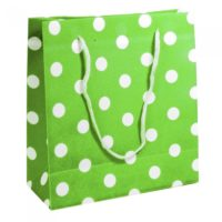 Bolsas Verdes con puntos blancos