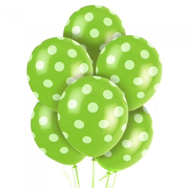 Globos Verdes con puntos blancos