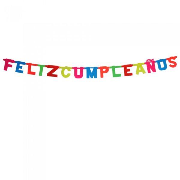 Guirnalda flúor Feliz Cumpleaños