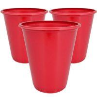 Vasos Rojos de 210 cc