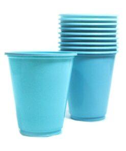 Vasos plásticos Celestes de 230 cc