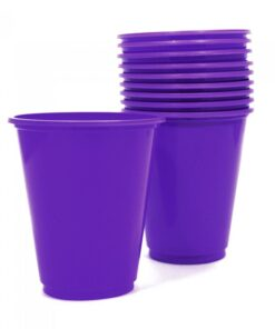Vasos plásticos Morados de 230 cc