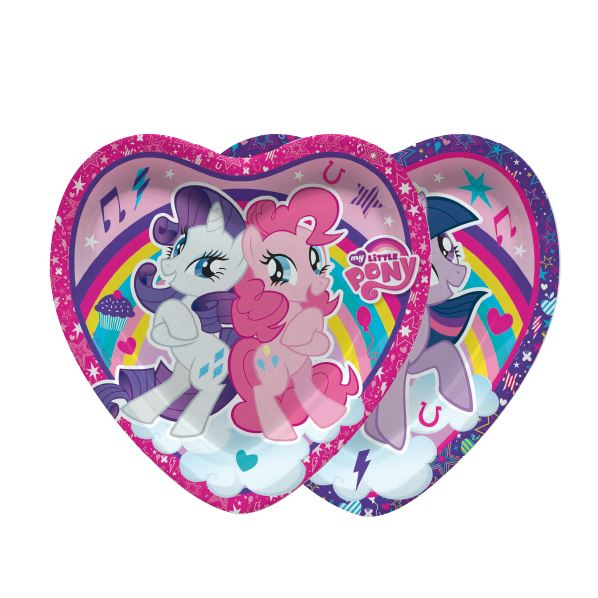 Platos Corazón de My Little Pony Arcoiris