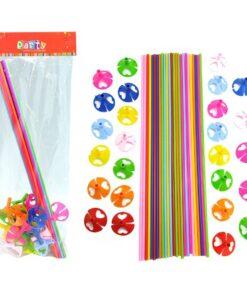 Set de 25 varillas de colores para globos