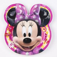 Platos de Minnie Mouse Flor