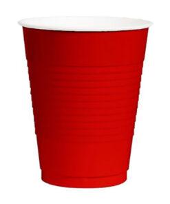 Vasos plásticos Rojos