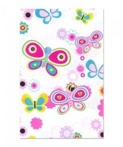 Mantel de Flores y Mariposas