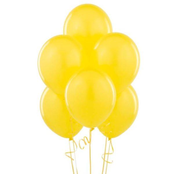 Globos amarillos