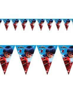Banderines Feliz Cumpleaños de Ladybug