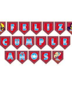 Guirnalda Feliz Cumpleaños de DC Super Hero Girls