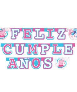 Guirnalda Feliz Cumpleaños de Peppa Pig