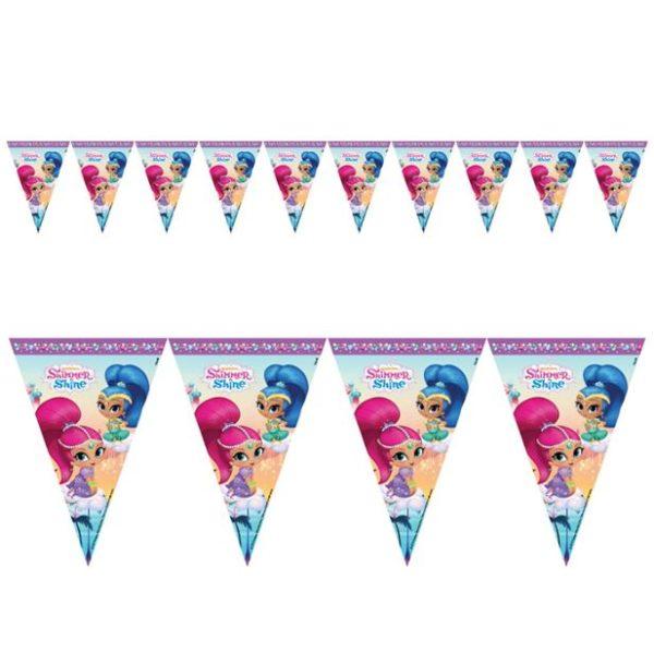 Banderín Feliz Cumpleaños de Shimmer & Shine