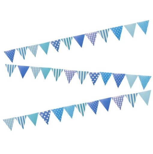 Banderines celestes azules