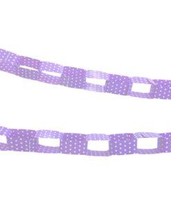 Guirnalda Lila con puntos blancos