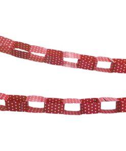 Guirnalda Roja con puntos blancos