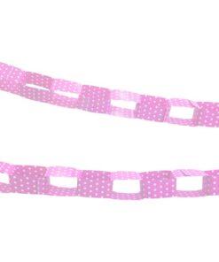 Guirnalda Rosada con puntos blancos