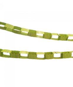 Guirnalda Verde con puntos blancos