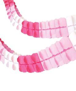 guirnalda rosada blanca