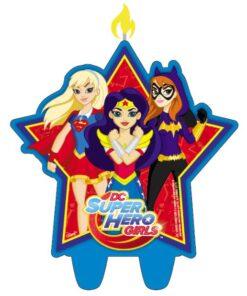 Vela de cumpleaños de DC Super Hero Girls