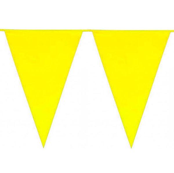 Guirnalda con banderines Amarillos
