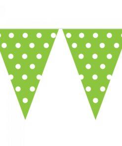 Banderines Verdes con puntos blancos