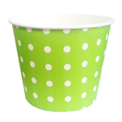 Pote Verde Lima con puntos blancos