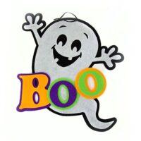 Adorno de fieltro con fantasma para Halloween