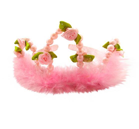 Corona rosada de princesa