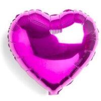 Globo figura corazón color fucsia