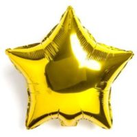 Globo figura estrella color dorado metalizado