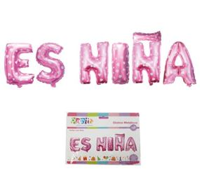 Globo letras Es Niña