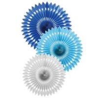 Pack escarapelas azul, celeste y blanca