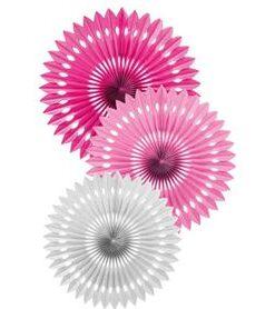 Pack escarapelas fucsia, rosada y blanca
