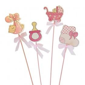 Varitas Para Decoracion Baby Shower Nina Azularia