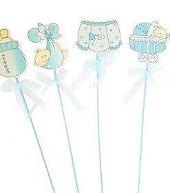Varitas para decoración baby shower niño