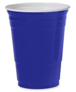 Vaso plástico Azul 450 cc