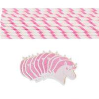 Bombilla de papel con diseño de Unicornio