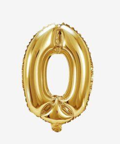 Globo número 0 dorado 81 cms