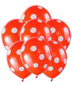 Globos Rojos con puntos blancos